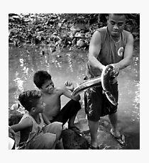 Eel Master - Pohnpei, Micronesia Photographic Print