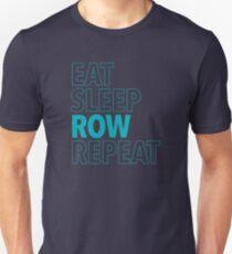 Eat, Sleep, Row, Repeat (Aqua) Unisex T-Shirt