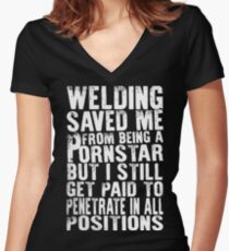 WELDER LIFE TSHIRT 2016 Women's Fitted V-Neck T-Shirt