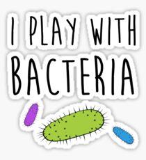 Pegatina Yo juego con bacterias
