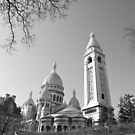 Springtime view of the Sacre-Coeur by Alex Cassels