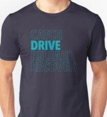 Catch, Drive, Release, Recover (Aqua) T-Shirt