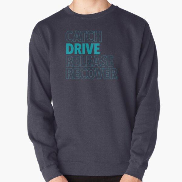 Catch, Drive, Release, Recover (Aqua) Pullover Sweatshirt