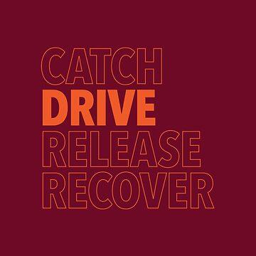 Catch, Drive, Release, Recover (Orange) by WorkingWalrus