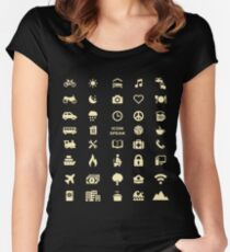 Cruise Travel Icon T-shirt Women's Fitted Scoop T-Shirt