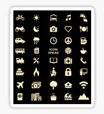 Cruise Travel Icon T-shirt Sticker