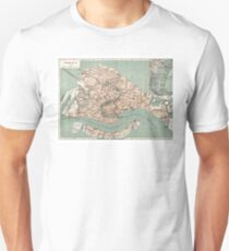 Map of Venice - 1886 Unisex T-Shirt