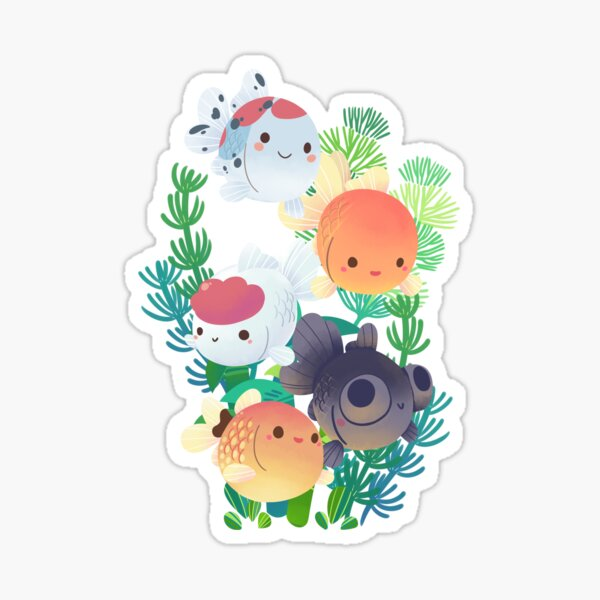 Goldfish Group Sticker