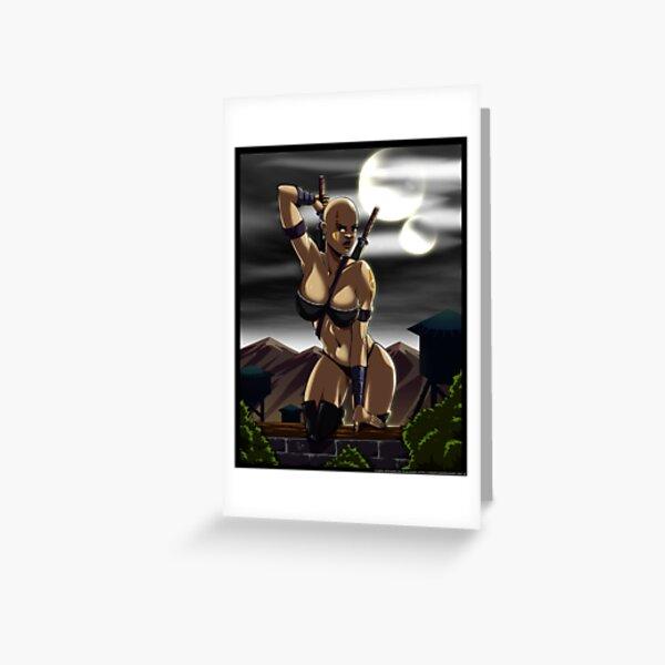 Moon Stalker Greeting Card
