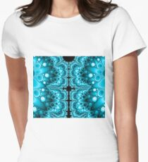 Fractastic (blue) Women's Fitted T-Shirt