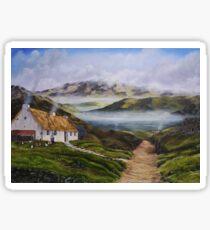 Irish Morning Mist - Oil Painting Sticker