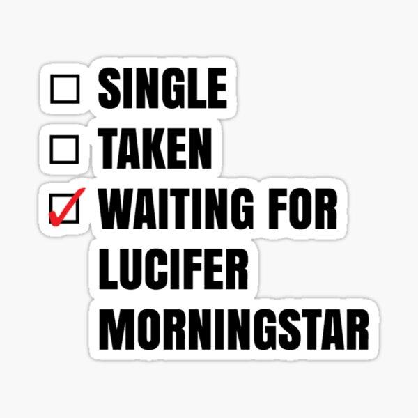 En attente de Lucifer autocollant Sticker