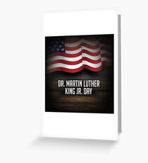 Dr. Martin Luther King Jr. Day American flag design Greeting Card