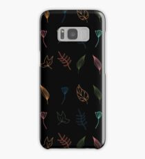 Floral pattern in neon colors Samsung Galaxy Case/Skin