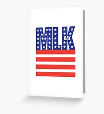Dr. Martin Luther King Jr. Day design. Greeting Card
