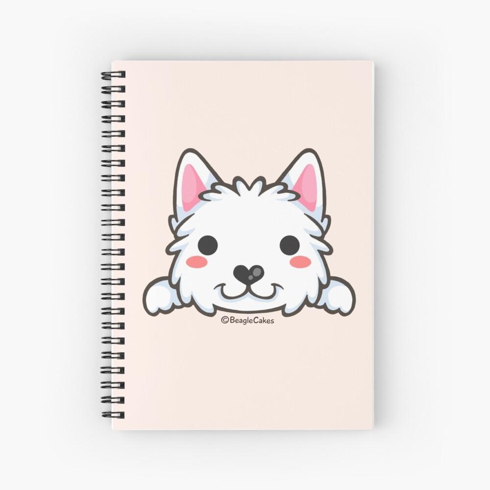 Cute Westie Puppy  Spiral Notebook