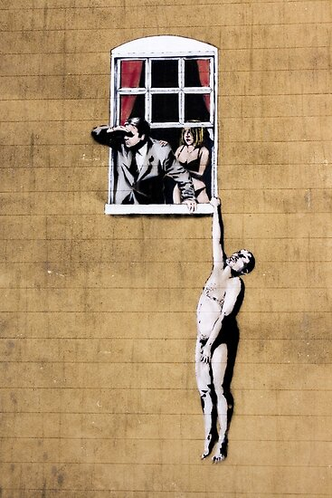 Banksy - Park Street Indiscretion by saracobbs