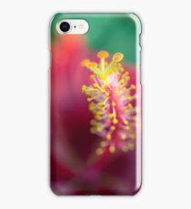 Hibiscus macro iPhone Case/Skin