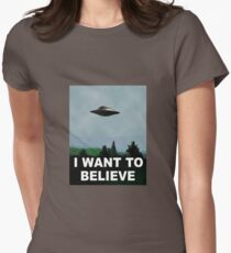 The X Files - I want to believe  Women's Fitted T-Shirt