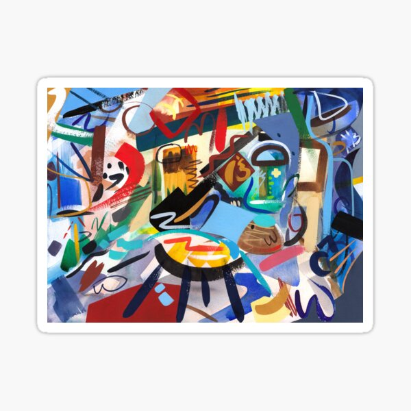 Abstract Interior Art Print Sticker