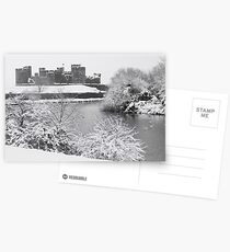 Caerphilly Castle at Winter time Postcards