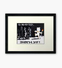 Banksy - The Mild Mild West Framed Print