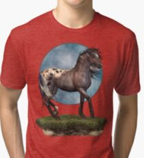 Storm .. an appaloosa stallion Tri-blend T-Shirt