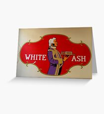 """""""Ashes to ashes""""  vintage wall adverb  Greeting Card"""