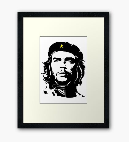 Che Guevara in star beret Framed Print