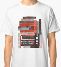 Murakami Book Stack Fanatic (Colour) Classic T-Shirt