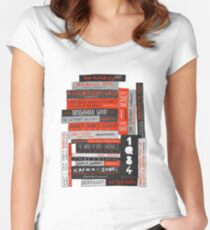 Murakami Book Stack Fanatic (Colour) Women's Fitted Scoop T-Shirt