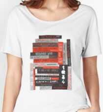 Murakami Book Stack Fanatic (Colour) Women's Relaxed Fit T-Shirt