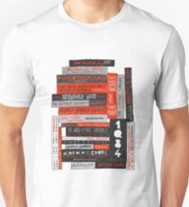 Murakami Book Stack Fanatic (Colour) Unisex T-Shirt