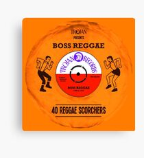 BOSS REGGAE VINYL Canvas Print