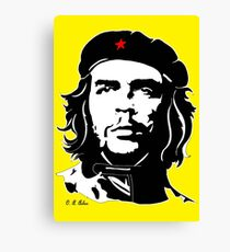 Che Guevara yellow background Canvas Print