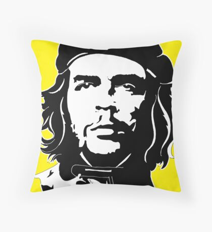Che Guevara yellow background Throw Pillow