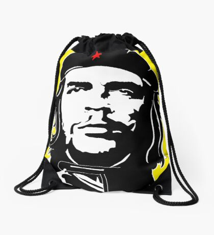Che Guevara yellow background Drawstring Bag