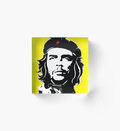 Che Guevara yellow background Acrylic Block