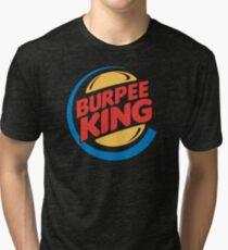 Camiseta de tejido mixto Burpee King Fitness