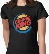 Burpee King Fitness Womens Fitted T-Shirt
