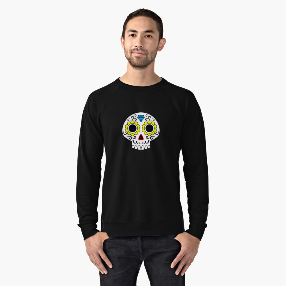 Sugar skull for a cake Lightweight Sweatshirt Front