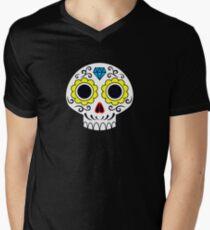 Sugar skull for a cake Men's V-Neck T-Shirt