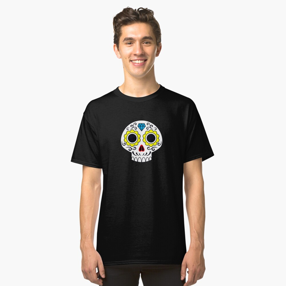 Sugar skull for a cake Classic T-Shirt Front