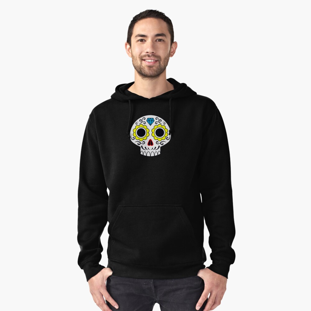 Sugar skull for a cake Pullover Hoodie Front