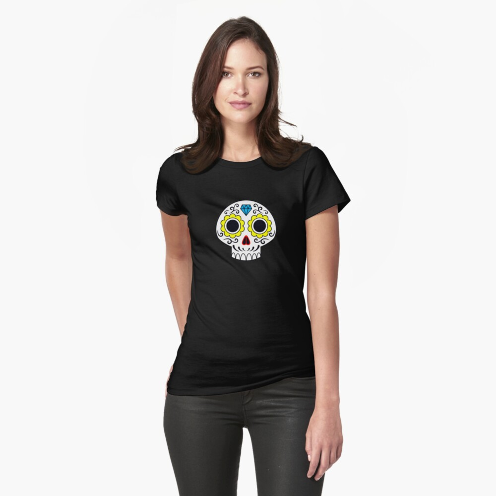 Sugar skull for a cake Fitted T-Shirt