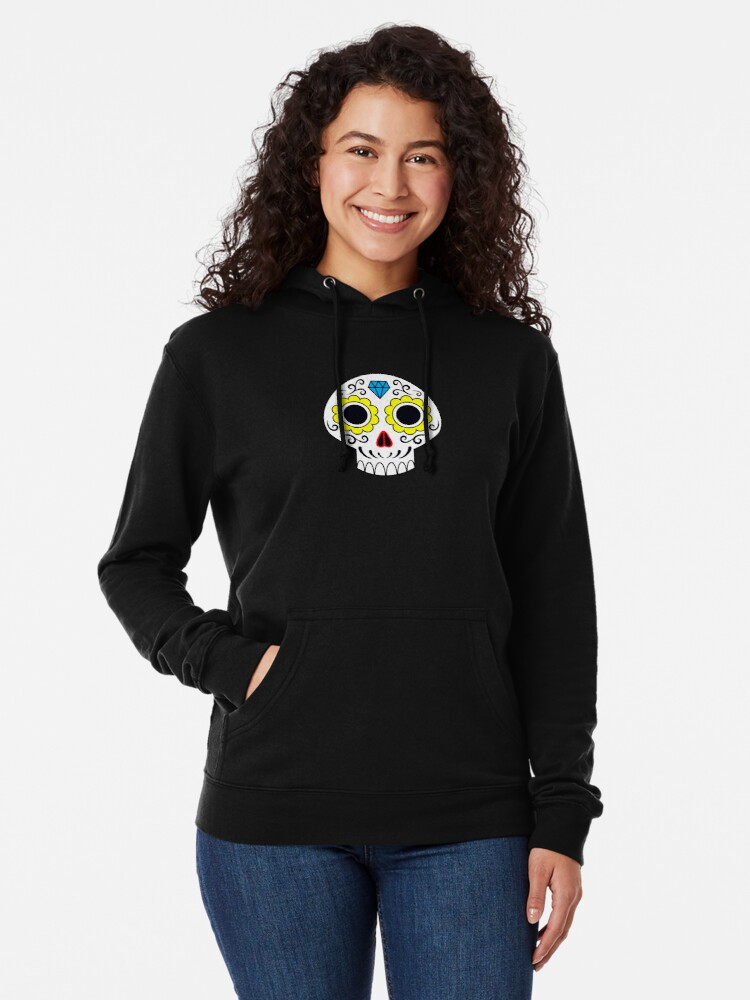 Alternate view of Sugar skull for a cake Lightweight Hoodie
