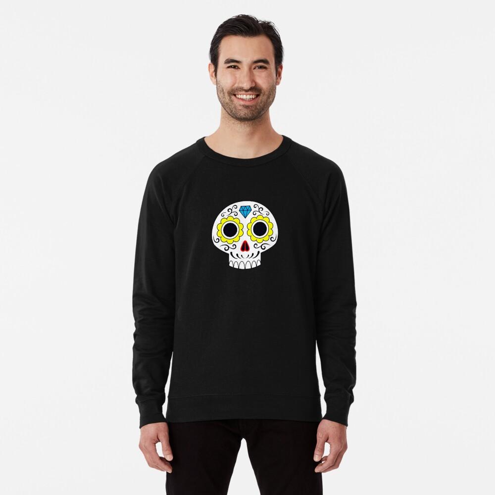 Sugar skull for a cake Lightweight Sweatshirt