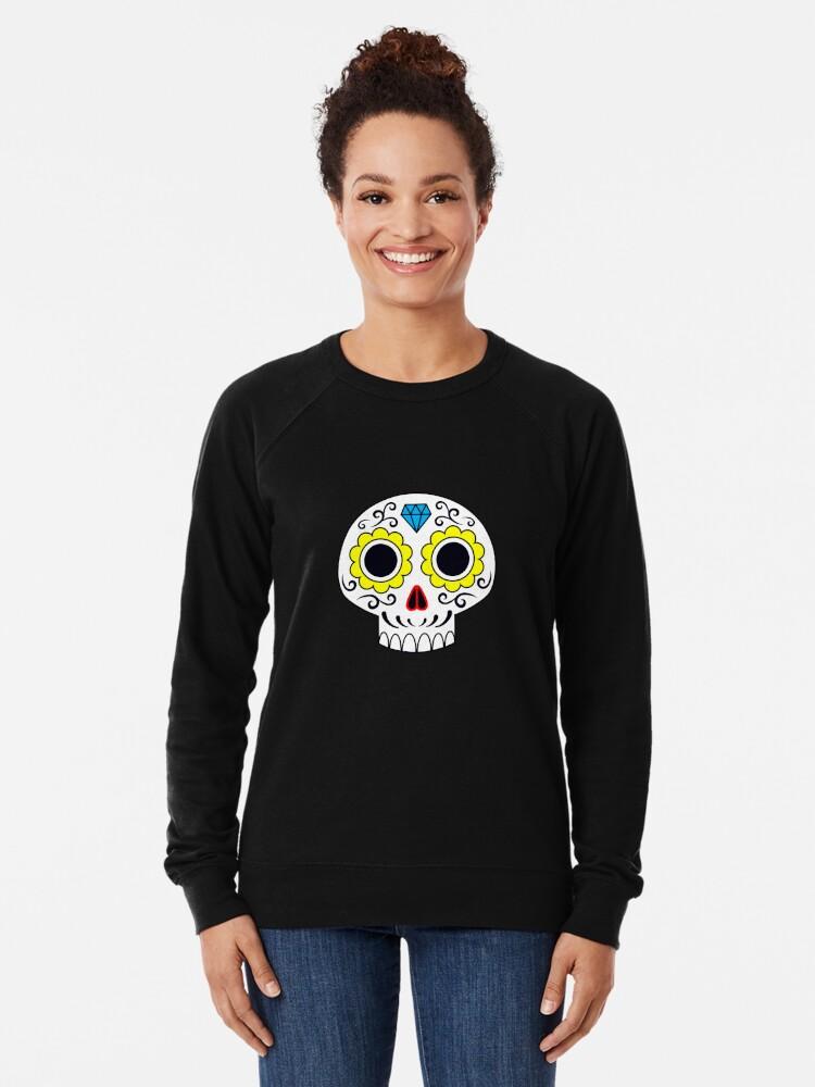 Alternate view of Sugar skull for a cake Lightweight Sweatshirt