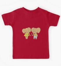 Couple cute elephants fallen in love Kids Clothes