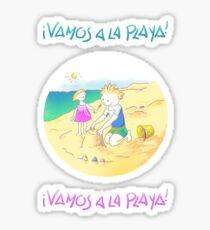 LET´S GO TO THE BEACH, KIDS! · ¡VAMOS A LA PLAYA, NIÑOS!  Pegatina